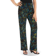 Printed Bootcut Knit Jersey Pants, Fun Print - 44358