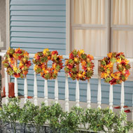 Light Up Fall Wreaths Set, 4 Pc - 44422
