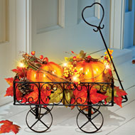 Lighted Pumpkin Wagon Fall Outdoor & Indoor Décor - 44431