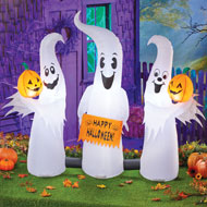 Inflatable Ghost Family Halloween Outdoor Décor - 44464