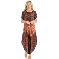 Woven Tie Dye Easy Fit Lightweight Dress - 44475