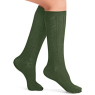 Cable Knit Knee High Socks Set of 4 - 44568
