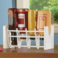 Condiment Saver Rack, Upside Down Bottle Holder - 44574