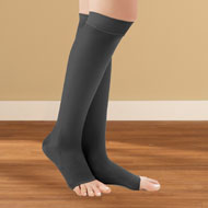 Knee High Compression Stockings, Moderate, Open Toe