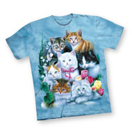 Springtime Kittens Short Sleeve Cotton T-Shirt - 44608