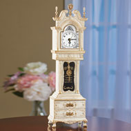 Antique Grandfather Clock Music Box with Storage - 44618