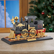 Locomotive Train Music Box with Moving Parts - 44620