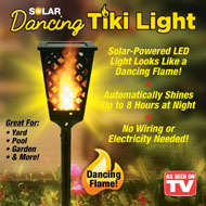 Solar Powered Dancing Tiki Torch Light - 44633