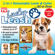 Lucky Leash 2-in-1 Retractable Leash & Collar - 44639