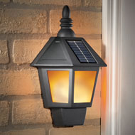Traditional Flickering Solar Wall Lamp - 44687