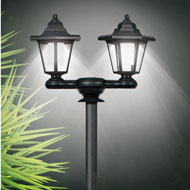 3-in-1 Solar Lamp Pole with Dual Lanterns - 44688