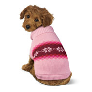 Snowflake Patterned Winter Dog Sweater - 44705