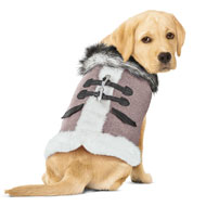 Flannel Lined Dog Winter Coat - 44710