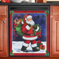 Santa Claus Dishwasher Magnet Cover - 44746