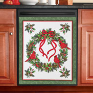 Winter Cardinals Dishwasher Magnet Cover - 44765