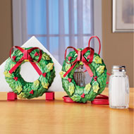 Holiday Wreath Kitchen Table Metal Accessory Set - 44767