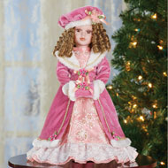 Kelly Winter Faux Fur Collectible Porcelain Doll