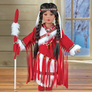 Meoquanee Native American Porcelain Doll - 44777