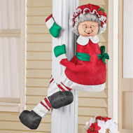 Mr. and Mrs. Claus Outdoor Plush Huggers Décor
