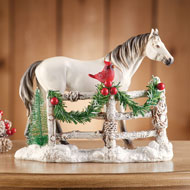 Majestic White Holiday Horse Tabletop Decoration - 44886