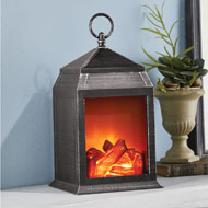 Decorative Tabletop Fireplace LED Lantern - 44987