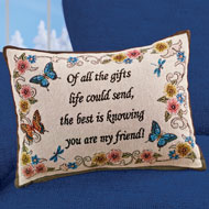 My Friend Tapestry Throw Pillow Decorative Accent - 45011