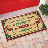 Delightful Wine Coco Welcome Door Mat - 45019