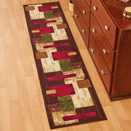 Overlapping Geometric Squares Modern Accent Rug - 45031