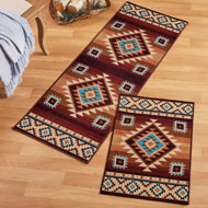 Colorful Southwest Aztec Print Rug - 45035