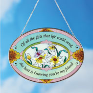 Beautiful Floral Friend Suncatcher Gift - 45097