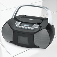 Portable Radio with CD/Cassette Player