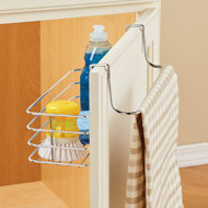 2-Sided Over the Door Organizer with Towel Bar