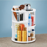 Rotating Cosmetic Organizer with Adjustable Layers