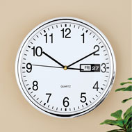 Retro Wall Clock with Calendar Date Display
