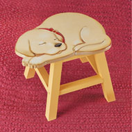 Decorative Pet Wooden Footstool - 45144