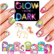 Unicorn Glow-In-The-Dark Nail Kit - 45172