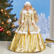 Holiday Princess Doll with Ball Gown and Fur Coat - 45184