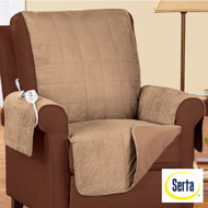 Serta Heated Suede Quilted Furniture Protector - 45196
