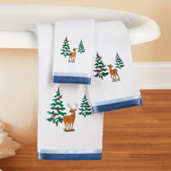 Winter Woodlands and Deer Towel Set of 3 - 45211