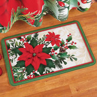 Poinsettia Bloom Bath Mat - 45214