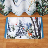 Majestic Winter Woodlands and Deer Bath Mat - 45217