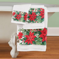 Poinsettia Bloom Towel Set of 3 - 45220