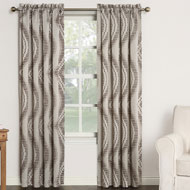 Chroma Window Curtain Panel with Wave Tile Pattern - 45242