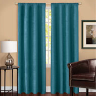 Total Blackout Curtain Panel with Basket Weave Texture - 45243
