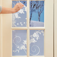 Floral & Scroll Cut-to-Fit Window Film - 45255
