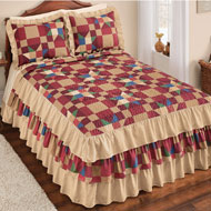 Cottage Patch Ruffled Bedspread - 45261