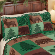 Forest Lodge Patchwork Chenille Pillow Sham - 45262