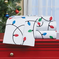 Christmas Lights Bed Sheet Set of 4 - 45263