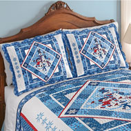 Snowman Family Patchwork Pillow Sham - 45285