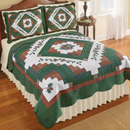 Pinecone Lodge Reversible Patchwork Quilt - 45289